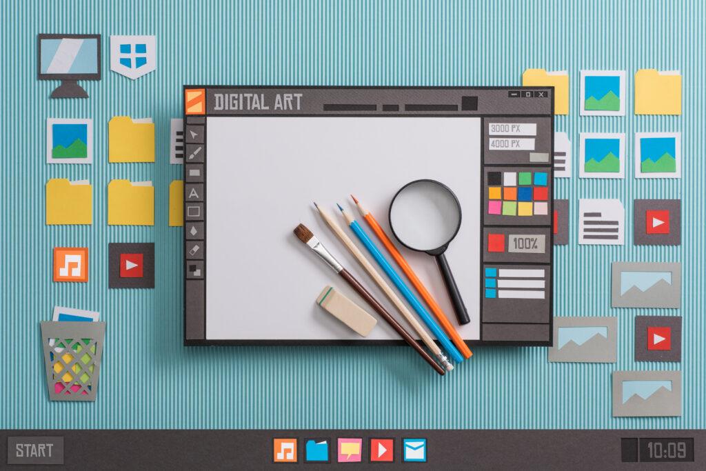 Identidade visual das pastas e arquivos digitais