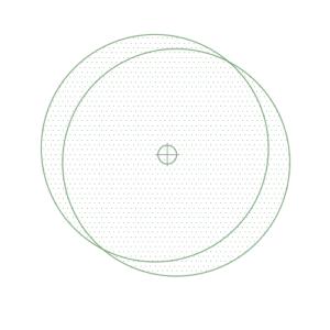 A imagem mostra o Bloco Dinâmico de Árvore, modelo Círculos em fundo branco.