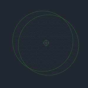 A imagem mostra o Bloco Dinâmico de Árvore, modelo Círculos em fundo padrão.
