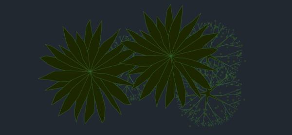 A imagem mostra o Bloco Dinâmico de Canteiros, em fundo padrão.