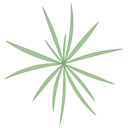 A imagem mostra o Bloco Dinâmico de Herbáceas, modelo simples 2 em fundo branco.