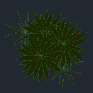 A imagem mostra o Bloco Dinâmico de Herbáceas, modelo combinado em fundo padrão.