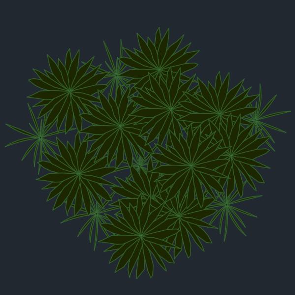 A imagem mostra o Bloco Dinâmico de Herbáceas, modelo combinado grande em fundo padrão.