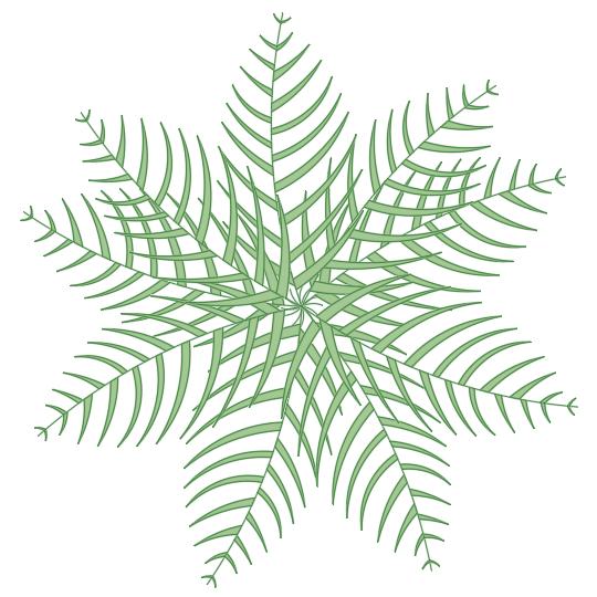 A imagem mostra o Bloco Dinâmico de Palmeira, em fundo branco.