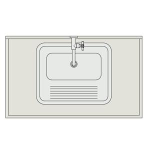 A imagem mostra o Bloco Dinâmico de Bancada com Tanque de Encaixe, em fundo branco.