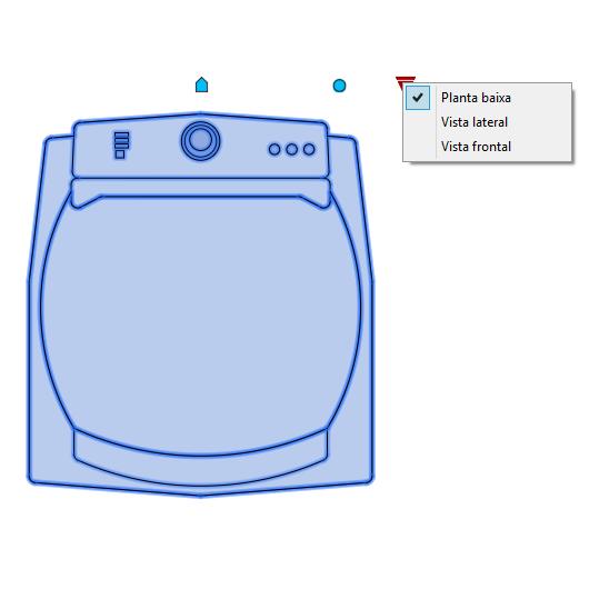 A imagem mostra o Bloco Dinâmico de Máquina de Lavar Brastemp Ative BWG11A, com grips mostrando as vistas, em fundo branco.