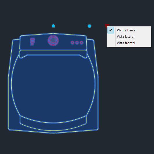 A imagem mostra o Bloco Dinâmico de Máquina de Lavar Brastemp Ative BWG11A, com grips mostrando as vistas, em fundo padrão.