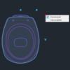 A imagem mostra o Bloco Dinâmico de Bacia Deca Aspen, com grips mostrando as opções, em fundo padrão.