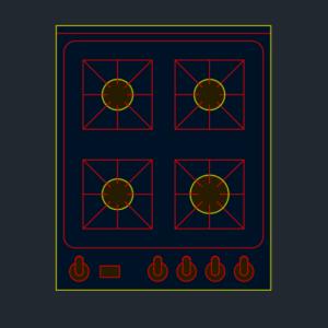 A imagem mostra o Bloco Dinâmico de Fogão Genérico, em fundo padrão.