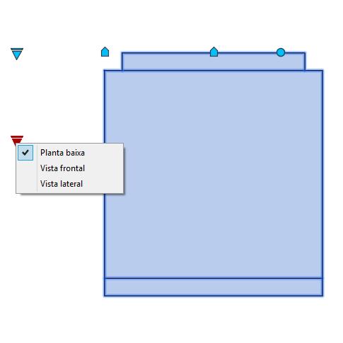 A imagem mostra o Bloco Dinâmico de Geladeira Duplex Brastemp, com grips mostrando as vistas, em fundo branco.