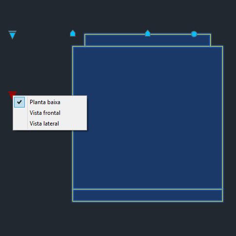 A imagem mostra o Bloco Dinâmico de Geladeira Duplex Brastemp, com grips mostrando as vistas, em fundo padrão.