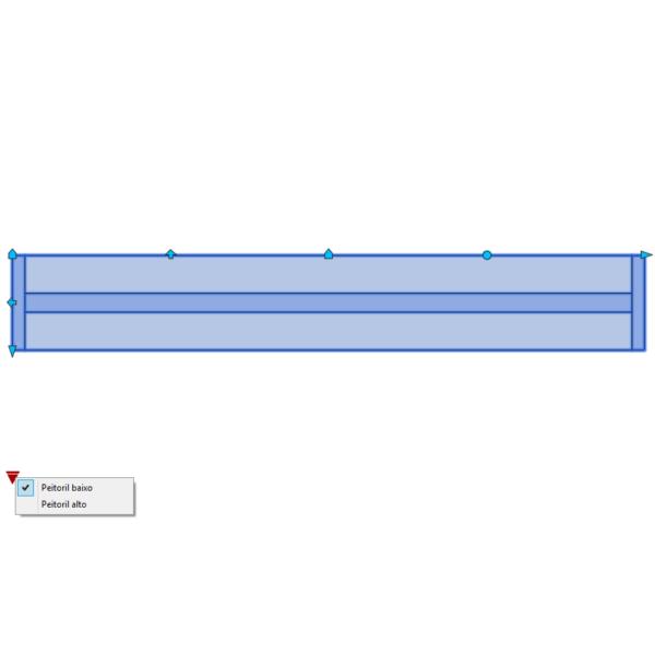 A imagem mostra o Bloco Dinâmico de Janela, com grips mostrando as opções, em fundo branco.