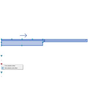 A imagem mostra o Bloco Dinâmico de Porta de Correr Embutida - 1 lado, com grips e opções de aduela e alisar, em fundo branco.
