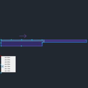 A imagem mostra o Bloco Dinâmico de Porta de Correr Embutida - 1 lado, com grips e opções de vãos, em fundo padrão.