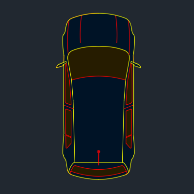 A imagem mostra o Bloco Dinâmico de Carro, em fundo padrão.