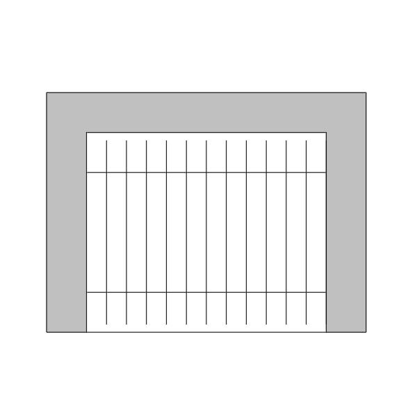 A imagem mostra o Bloco Dinâmico de Churrasqueira, em fundo branco.