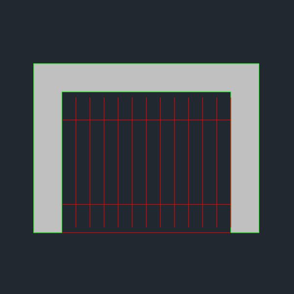 A imagem mostra o Bloco Dinâmico de Churrasqueira, em fundo padrão.