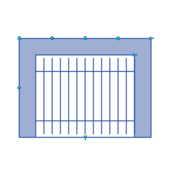 A imagem mostra o Bloco Dinâmico de Churrasqueira, com grips, em fundo branco.