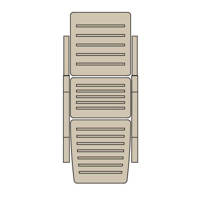 A imagem mostra o Bloco Dinâmico de Espreguiçadeira, em fundo branco.