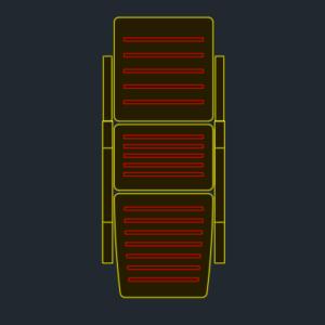 A imagem mostra o Bloco Dinâmico de Espreguiçadeira, em fundo padrão.