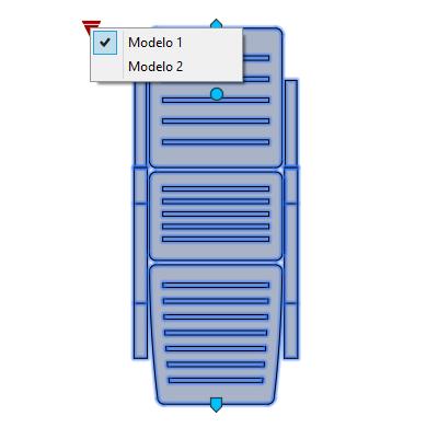 A imagem mostra o Bloco Dinâmico de Espreguiçadeira, com grips e opção de modelo, em fundo branco.