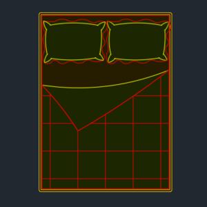 A imagem mostra o Bloco Dinâmico de Camas, em fundo padrão.