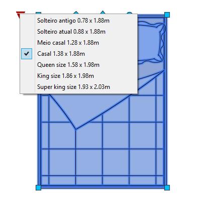 A imagem mostra o Bloco Dinâmico de Camas, com grips e opções de tamanho, em fundo branco.