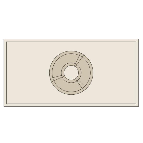 A imagem mostra o Bloco Dinâmico de Mesa de Cabeceira, em fundo branco.