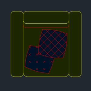 A imagem mostra o Bloco Dinâmico de Sofá Coy Tok&Stok, em fundo padrão.