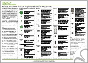 A imagem mostra a Cartela de blocos do Template de Layers e Anotações para Projetos de Arquitetura do Arquilog, em fundo branco.
