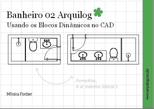 CAD  Blocos Dinâmicos  Banheiros Arquilog  Arquilog -> Cuba Banheiro Bloco Cad