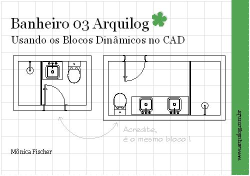 CAD  Blocos Dinâmicos  Banheiros Arquilog  Arquilog -> Armario De Banheiro Bloco Cad