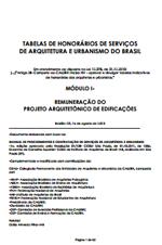 IAB – Tabelas de Honorários de Serviços de Arquitetura e Urbanismo do Brasil