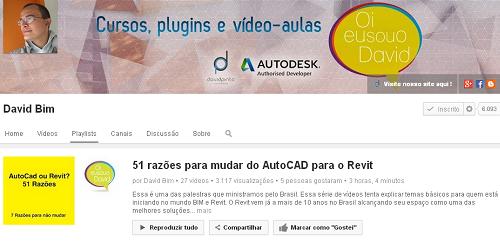 David BIM – 01 – 51 razões para mudar do AutoCAD para o Revit